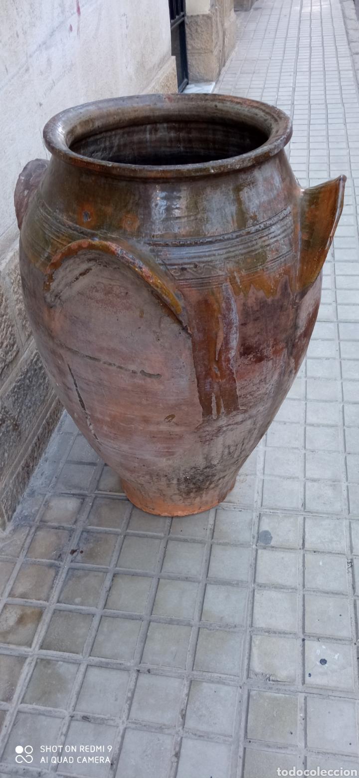ANTIGUA ORZA O TINAJA DE GUADIX 83 CM. (Antigüedades - Porcelanas y Cerámicas - Fajalauza)