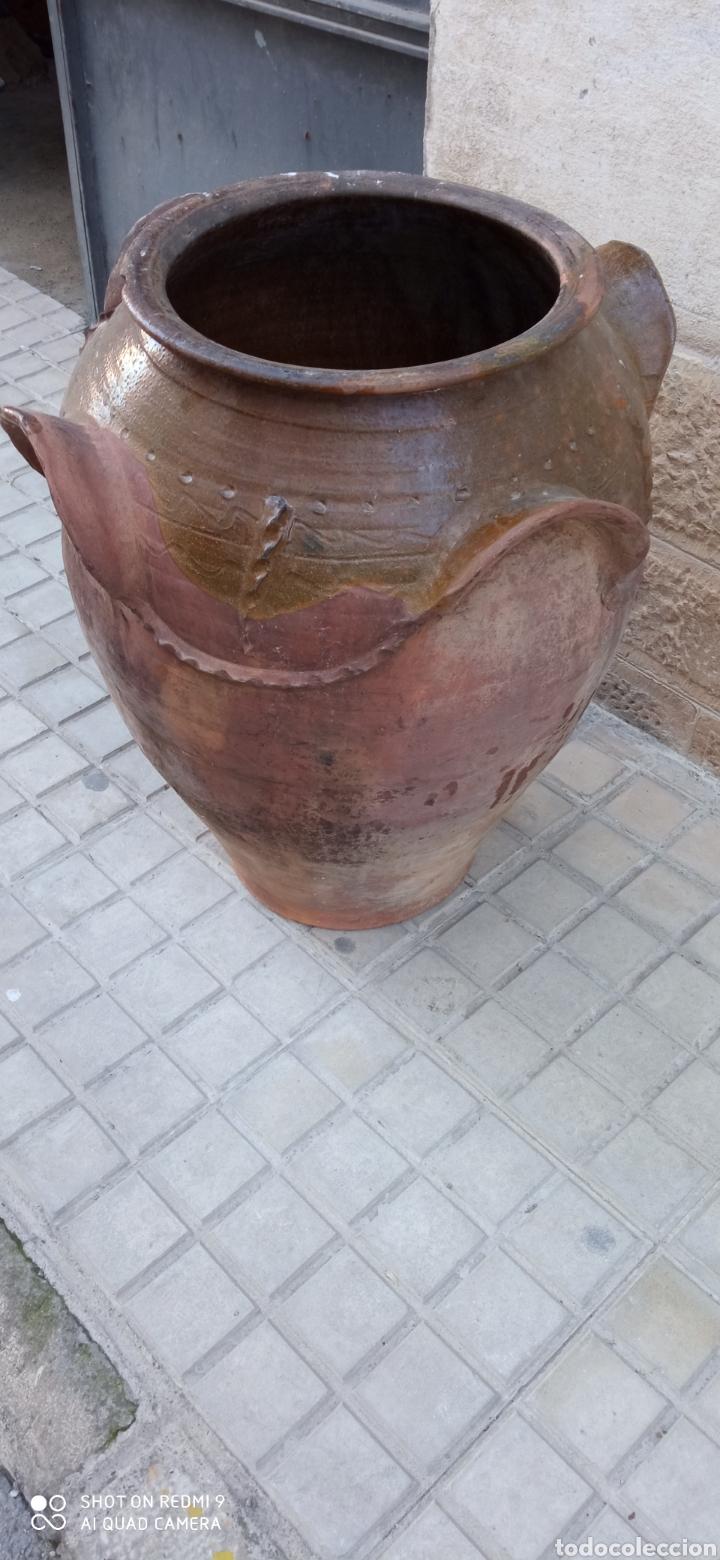 ANTIGUA ORZA O TINAJA DE GUADIX (Antigüedades - Porcelanas y Cerámicas - Fajalauza)