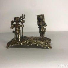 Antigüedades: QUERUBINES DE PLATA DE LEY MINIATURA. FINALES DEL S. XIX.. Lote 236494850