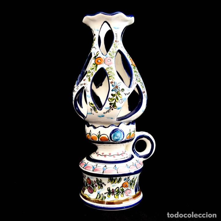 EXTRAORDINARIO QUINQUE DE GRAN TAMAÑO TRABAJADO A MANO (Antigüedades - Porcelanas y Cerámicas - Alcora)