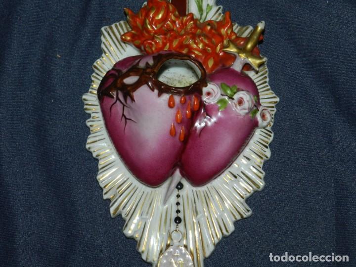 Antigüedades: Antigua Benditera de Porcelana Limoges S XIX Perfecto Estado - 30 X 15 cm . - Foto 4 - 236525480