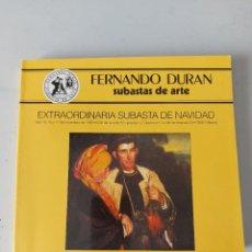 Antigüedades: CATALOGO SUBASTAS FERNANDO DURAN 1993. Lote 236531155