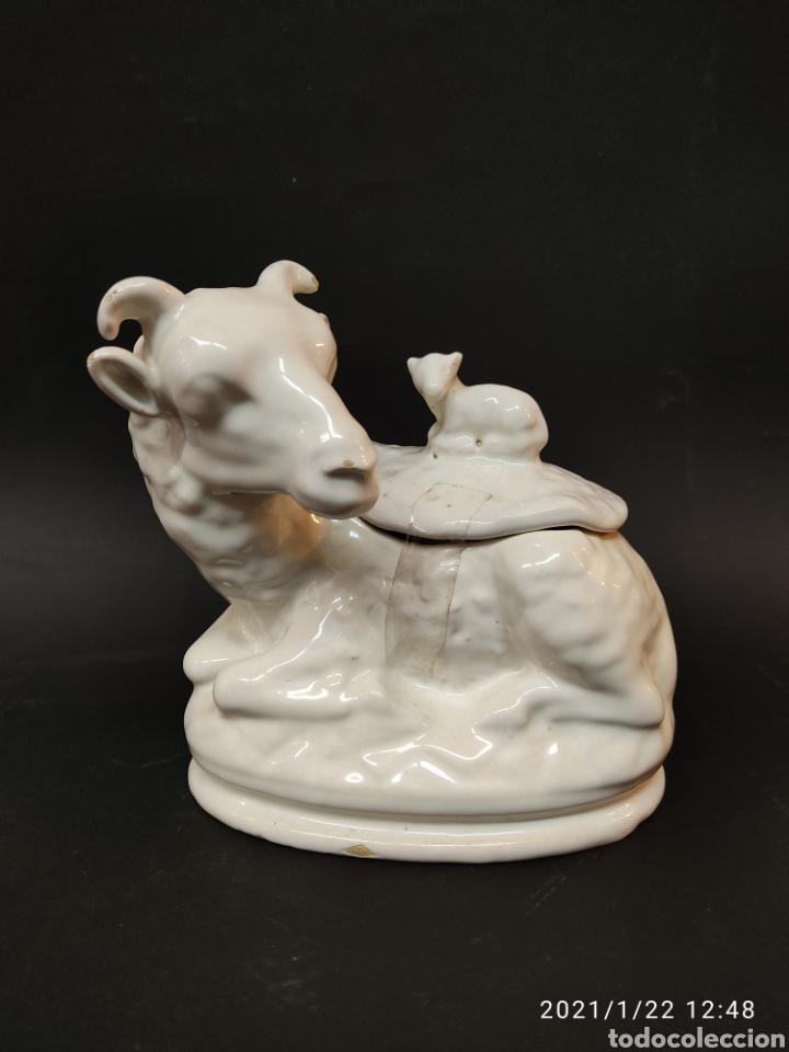 TERRINA ZOOMORFA SIGUIENDO MODELOS DE ALCORA (Antigüedades - Porcelanas y Cerámicas - Alcora)