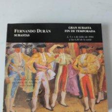 Antigüedades: CATALOGO SUBASTAS FERNANDO DURAN 1966. Lote 236537320