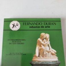 Antigüedades: CATALOGO SUBASTAS FERNANDO DURAN 1994. Lote 236538175