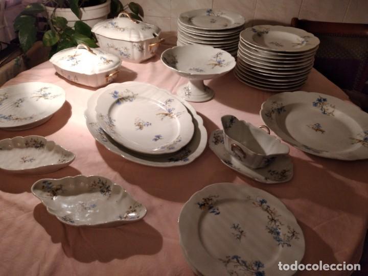 EXQUISITA VAJILLA DE PORCELANA ADOLPHE HACHE & Cª V FRANCE 2ª MITAD DEL SIGLO XIX,38 PIEZAS (Antigüedades - Porcelana y Cerámica - Francesa - Limoges)