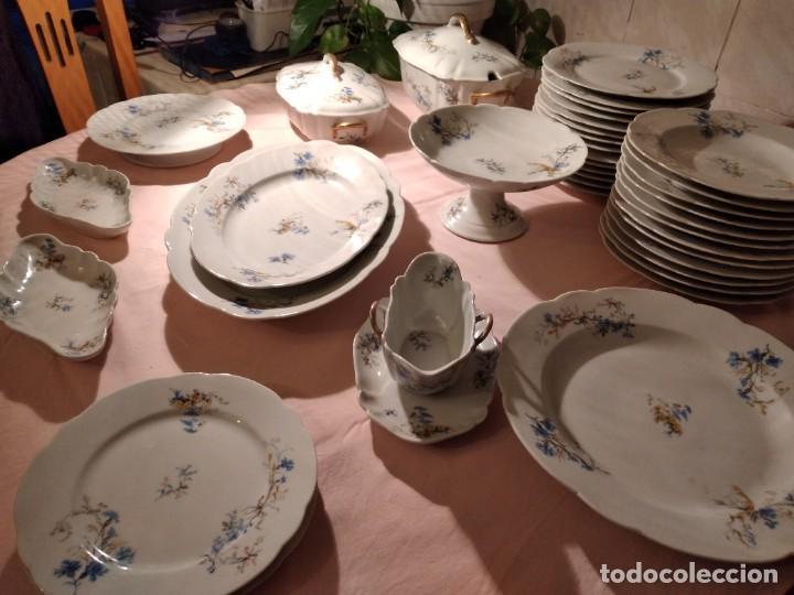Antigüedades: exquisita VAJILLA DE porcelana Adolphe Hache & Cª V FRANCE 2ª MITAD DEL SIGLO XIX,38 piezas - Foto 2 - 236596115
