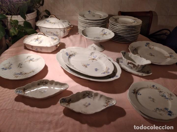 Antigüedades: exquisita VAJILLA DE porcelana Adolphe Hache & Cª V FRANCE 2ª MITAD DEL SIGLO XIX,38 piezas - Foto 3 - 236596115