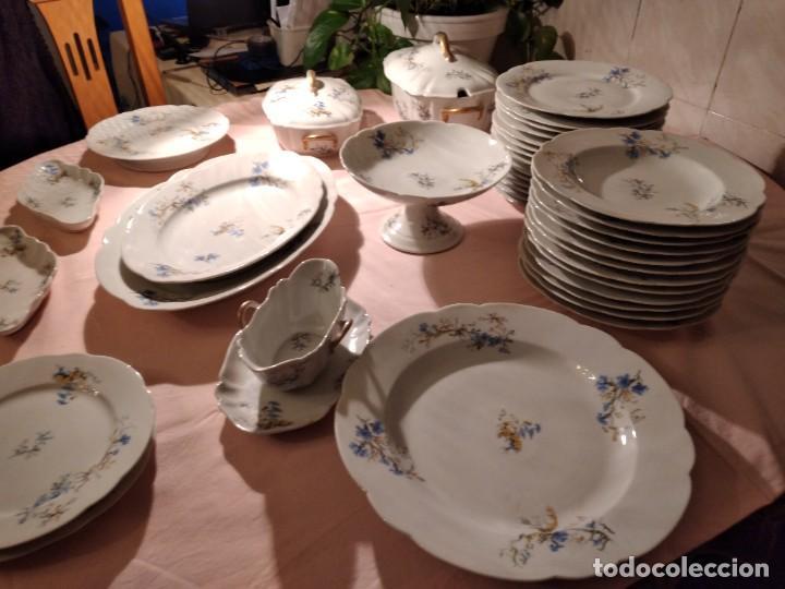 Antigüedades: exquisita VAJILLA DE porcelana Adolphe Hache & Cª V FRANCE 2ª MITAD DEL SIGLO XIX,38 piezas - Foto 4 - 236596115