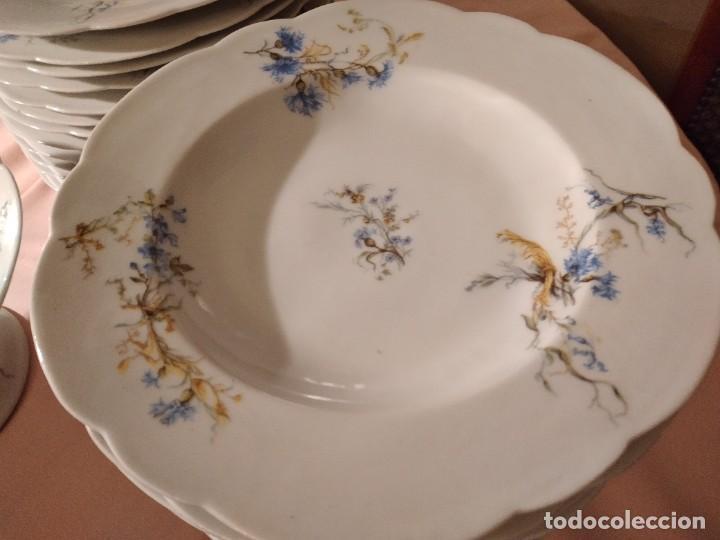Antigüedades: exquisita VAJILLA DE porcelana Adolphe Hache & Cª V FRANCE 2ª MITAD DEL SIGLO XIX,38 piezas - Foto 6 - 236596115
