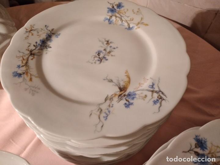 Antigüedades: exquisita VAJILLA DE porcelana Adolphe Hache & Cª V FRANCE 2ª MITAD DEL SIGLO XIX,38 piezas - Foto 7 - 236596115