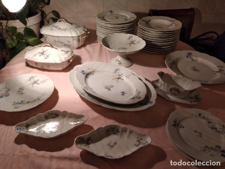 Antigüedades: exquisita VAJILLA DE porcelana Adolphe Hache & Cª V FRANCE 2ª MITAD DEL SIGLO XIX,38 piezas - Foto 20 - 236596115