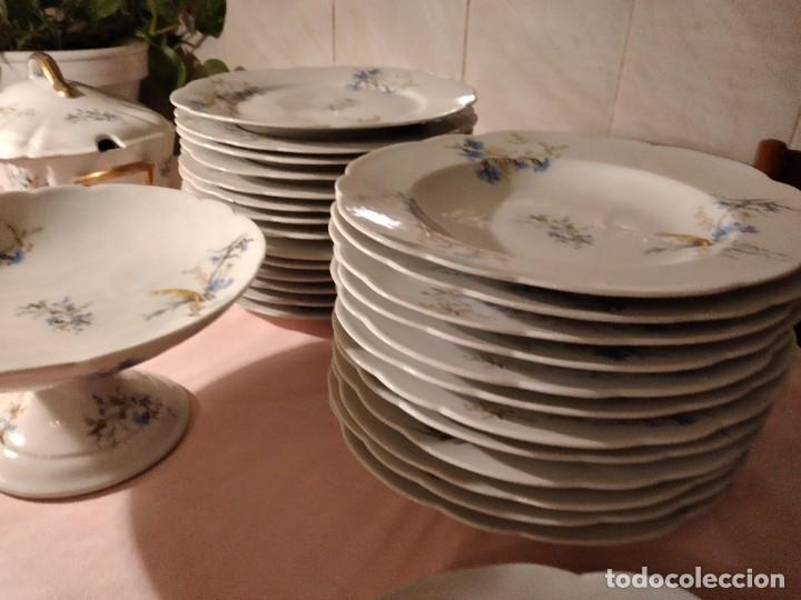 Antigüedades: exquisita VAJILLA DE porcelana Adolphe Hache & Cª V FRANCE 2ª MITAD DEL SIGLO XIX,38 piezas - Foto 24 - 236596115