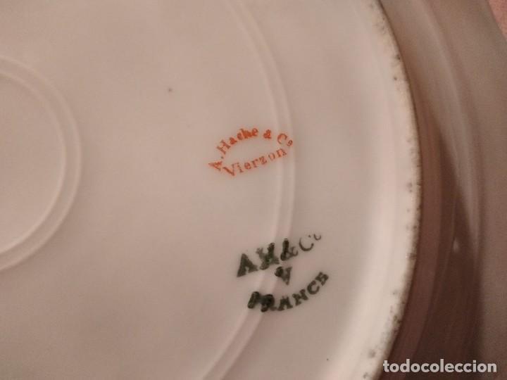 Antigüedades: exquisita VAJILLA DE porcelana Adolphe Hache & Cª V FRANCE 2ª MITAD DEL SIGLO XIX,38 piezas - Foto 27 - 236596115
