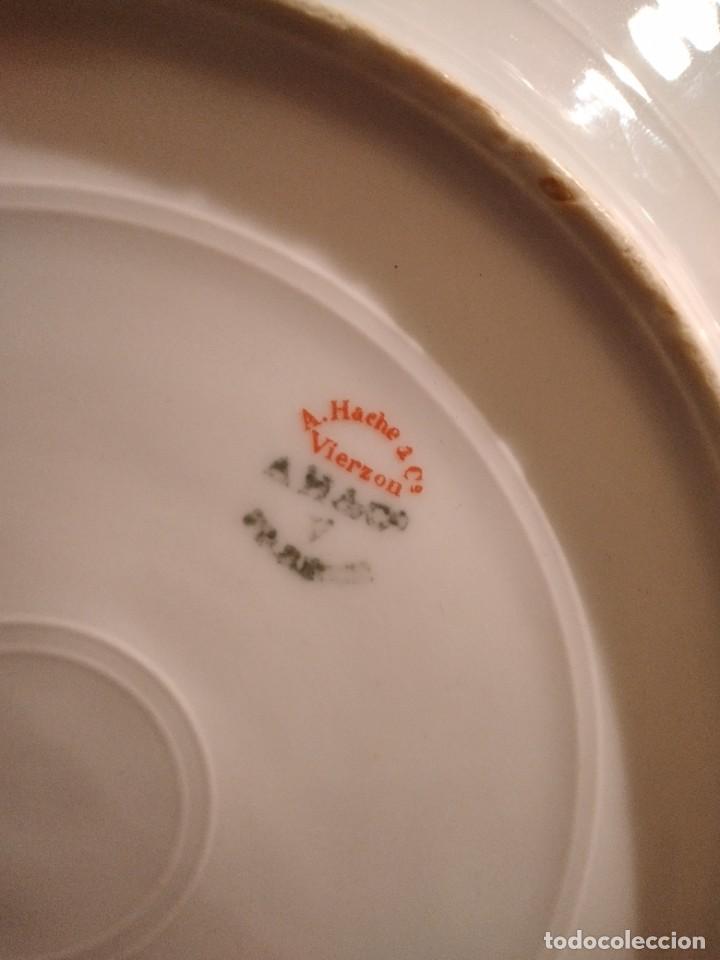 Antigüedades: exquisita VAJILLA DE porcelana Adolphe Hache & Cª V FRANCE 2ª MITAD DEL SIGLO XIX,38 piezas - Foto 29 - 236596115