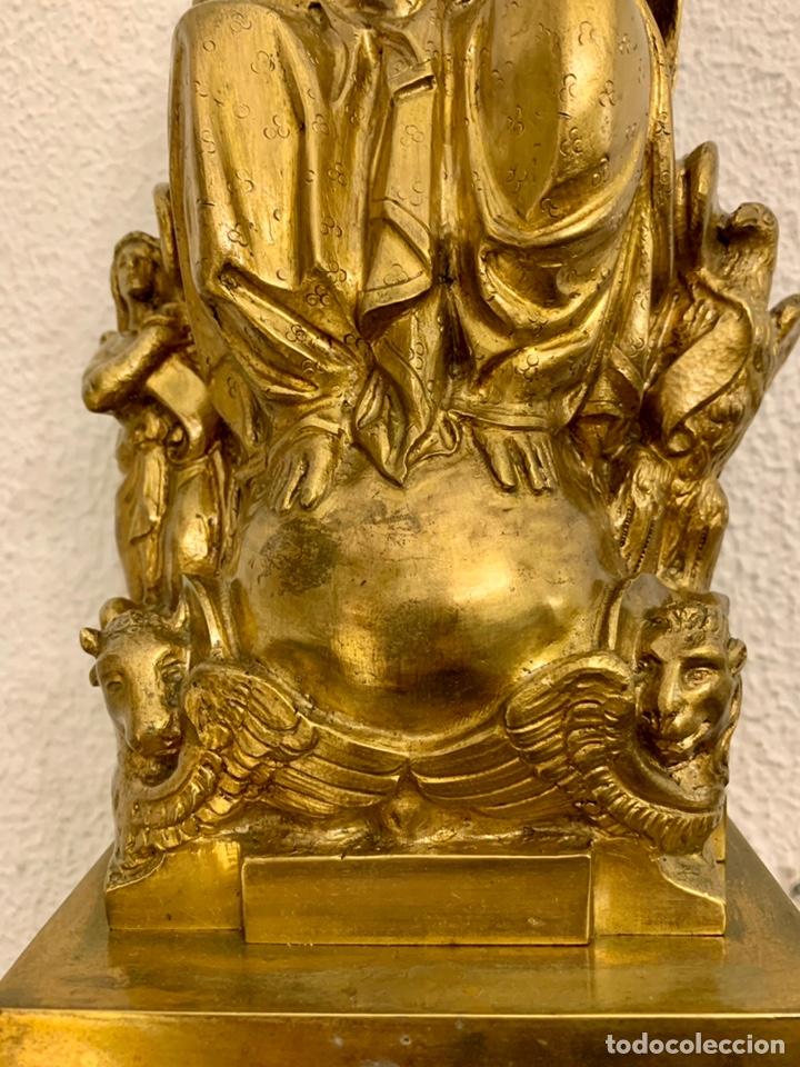 Antigüedades: CRISTO REY, IMAGEN, BRONCE, MENSULA - Foto 3 - 236596500