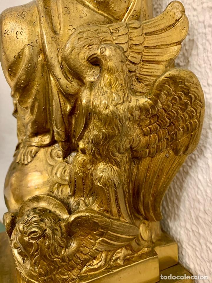 Antigüedades: CRISTO REY, IMAGEN, BRONCE, MENSULA - Foto 7 - 236596500