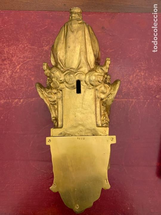 Antigüedades: CRISTO REY, IMAGEN, BRONCE, MENSULA - Foto 9 - 236596500