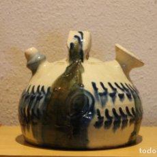 Antigüedades: BOTIJO CHATO CUENCA, BARNIZ. Lote 236605660