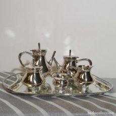 Antigüedades: JUEGO CAFÉ PLATEADO. Lote 236608435