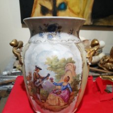 Antigüedades: JARRÓN PORCELANA HISPANIA. Lote 236609170