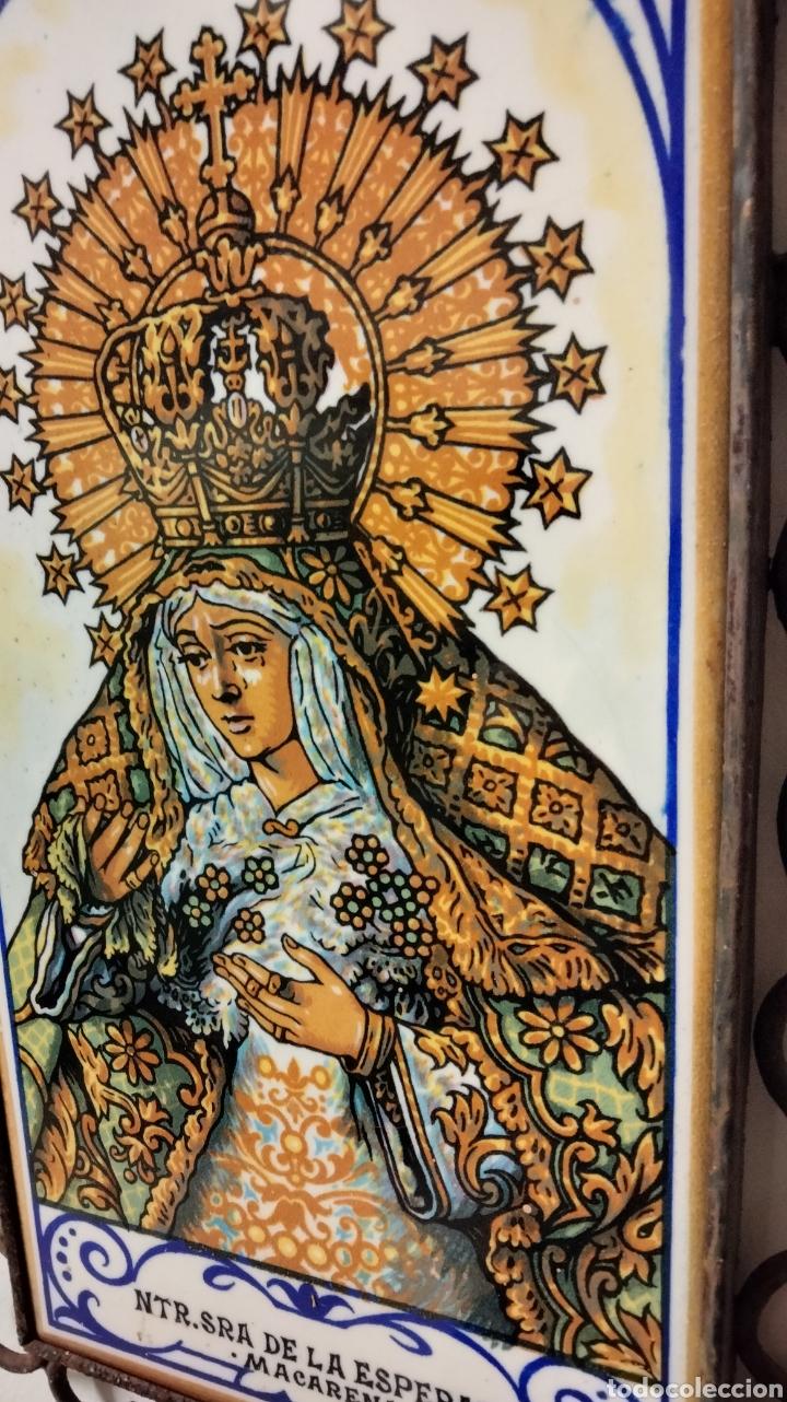 Antigüedades: HERRAJE CON AZULEJO DE LA MACARENA - Foto 4 - 236613635