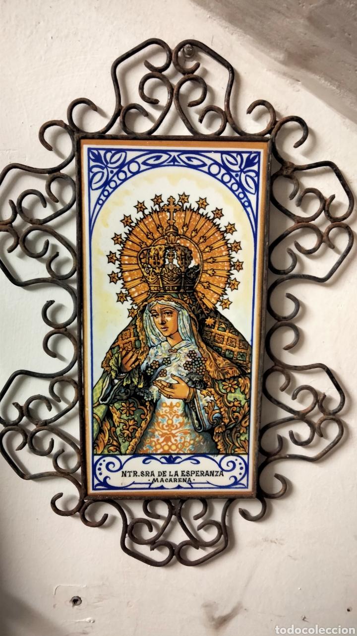 Antigüedades: HERRAJE CON AZULEJO DE LA MACARENA - Foto 5 - 236613635