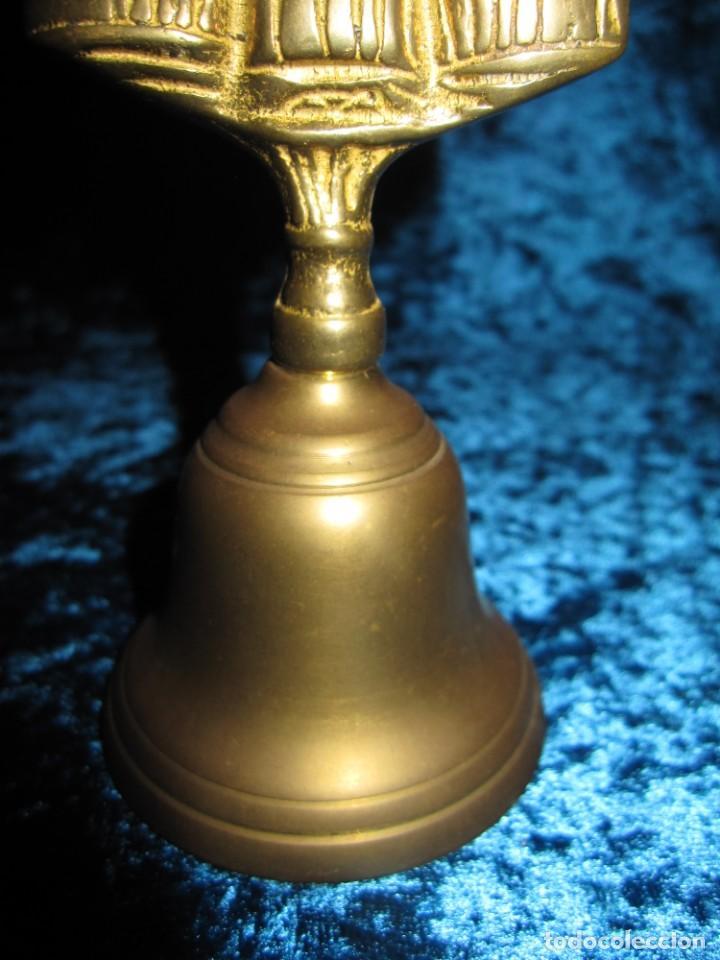 Antigüedades: Antigua campana de mano Gales 3 damas - Foto 5 - 176027779