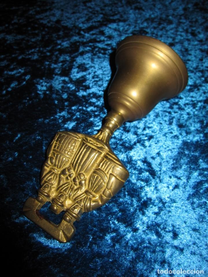 Antigüedades: Antigua campana de mano Gales 3 damas - Foto 6 - 176027779