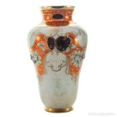 Antigüedades: FLORERO 1802 TRIPLEX ESMALTE BLANCO, OPALINA DE CRISTAL DE BOHEMIA- ARTICULO NUEVO. Lote 226338500