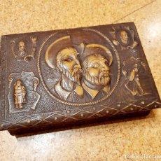 Antigüedades: CAJA DE PUROS DON QUIJOTE Y SANCHO PANZA. Lote 236671495