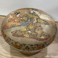 Antigüedades: SOBERBIA CAJA DE PORCELANA JAPONESA, DE GRAN TAMAÑO. PPS.S.XX. Lote 236705725