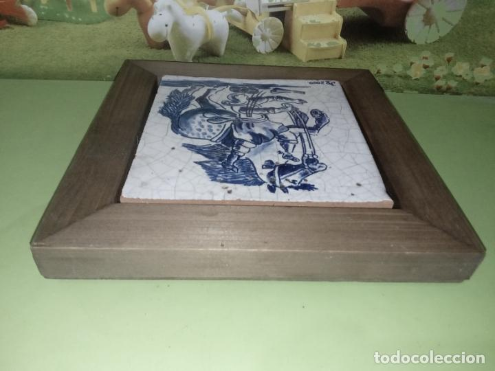 Antigüedades: AZULEJO BALDOSA ENMARCADA caballo - Foto 11 - 236732985