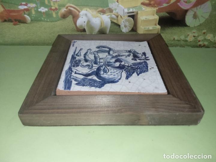Antigüedades: AZULEJO BALDOSA ENMARCADA caballo - Foto 12 - 236732985