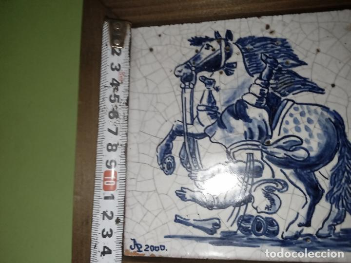 Antigüedades: AZULEJO BALDOSA ENMARCADA caballo - Foto 14 - 236732985