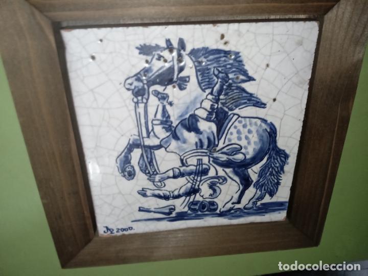 Antigüedades: AZULEJO BALDOSA ENMARCADA caballo - Foto 16 - 236732985