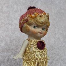 Antigüedades: MUÑECA BISCUIT PORCELANA JAPÓN AÑOS 40. Lote 236741115
