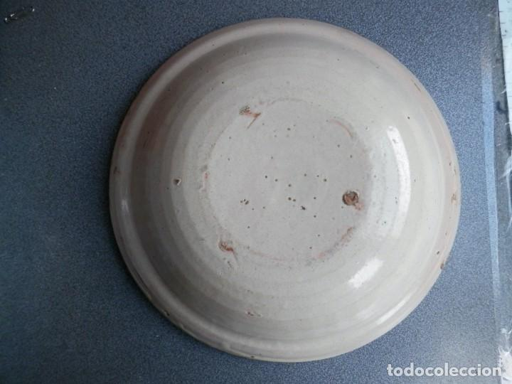 Antigüedades: GRAN PLATO SIGLO XIX - ALFAR MUEL ZARAGOZA CON ESTAMPILLADO JARRÓN 27 CENTÍMETROS - Foto 2 - 236775645