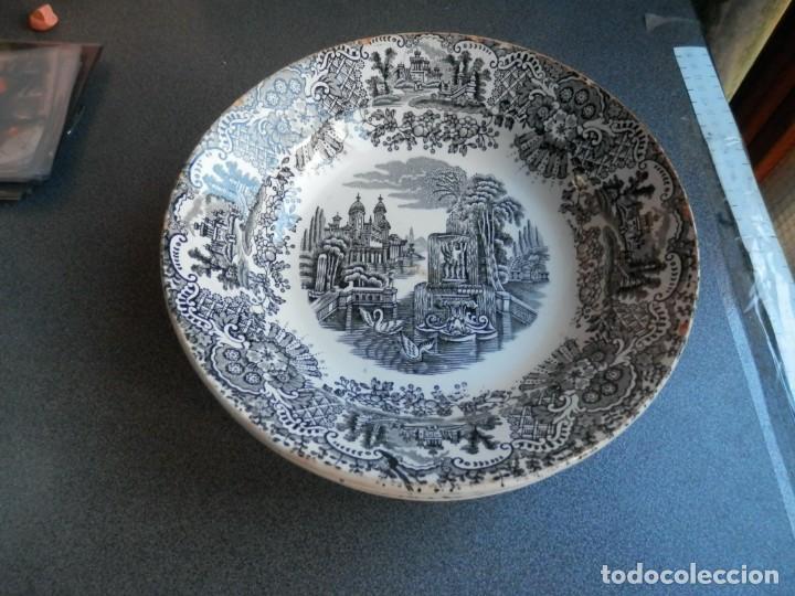 LOTE 4 PLATOS DE PICKMAN - LA CARTUJA SEVILLA ANTIGUOS SERIE VISTAS CON SELLO REVERSO VER TODOS (Antigüedades - Porcelanas y Cerámicas - La Cartuja Pickman)