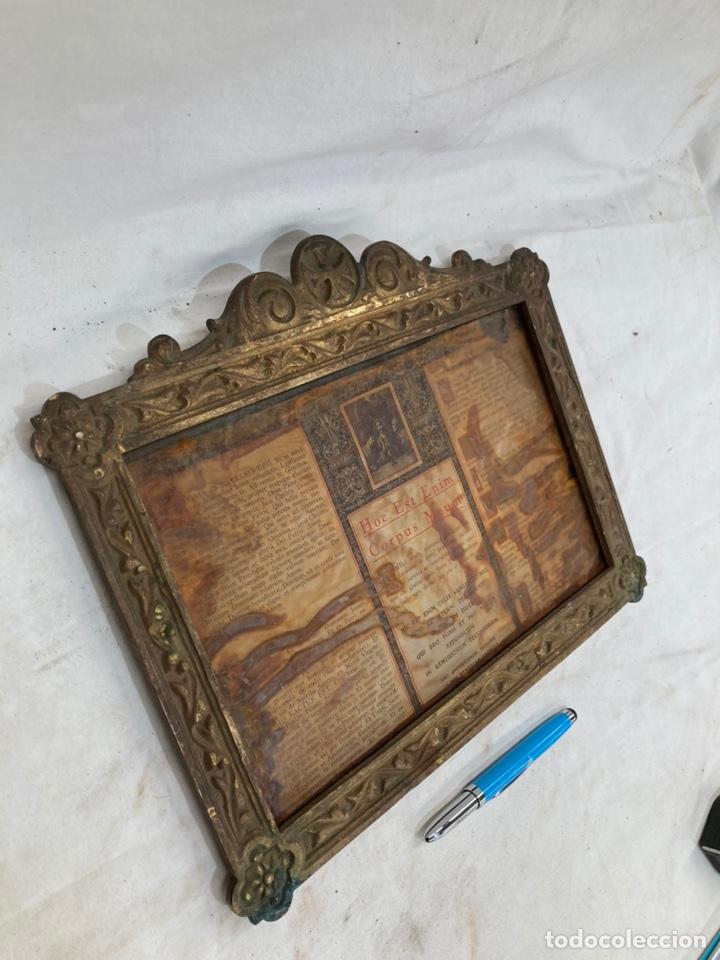 ANTIGUA SACRA DE IGLESIA!DE BRONCE! (Antigüedades - Religiosas - Ornamentos Antiguos)