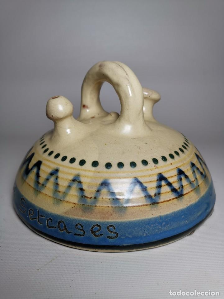 Antigüedades: ANTIGUO BOTIJO DE COLECCION-CANTIR-NEVERA --LA BISBAL GIRONA--SETCASES - Foto 3 - 236815775