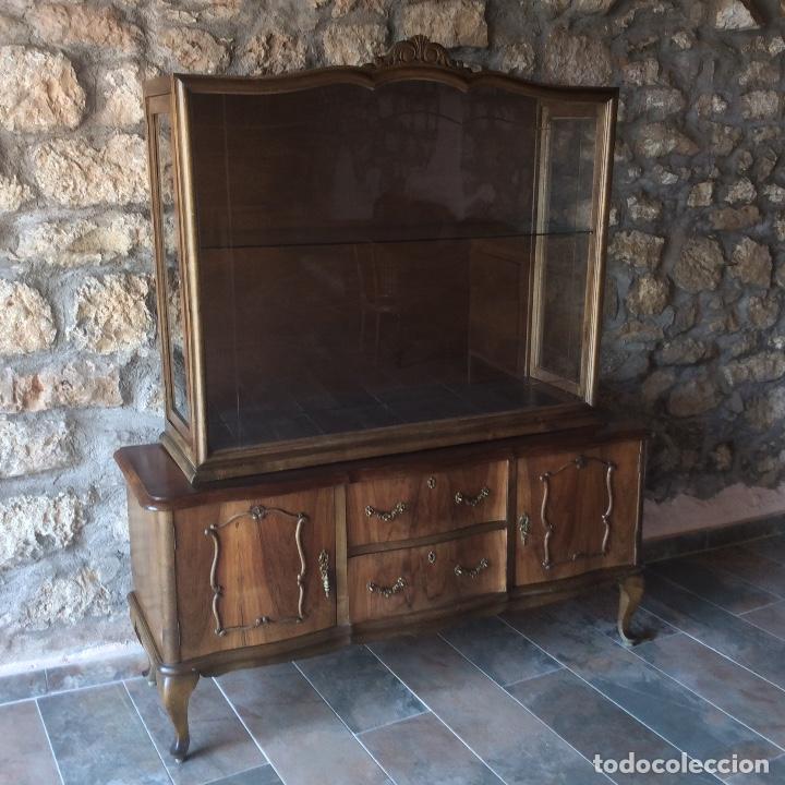 ANTIQUE DEUX CORPS DISPLAY CABINET AND SIDEBOARD (Antigüedades - Muebles Antiguos - Aparadores Antiguos)