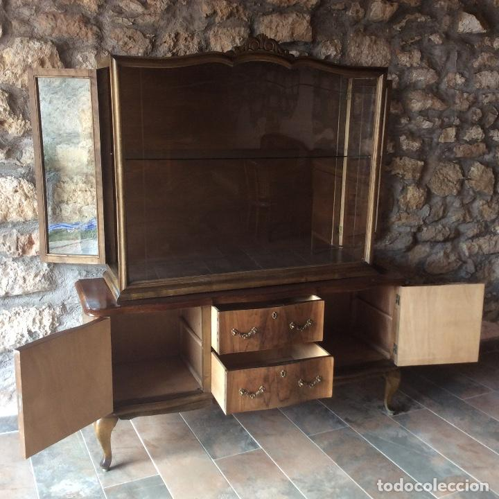Antigüedades: Antique Deux Corps Display Cabinet and Sideboard - Foto 9 - 236819105