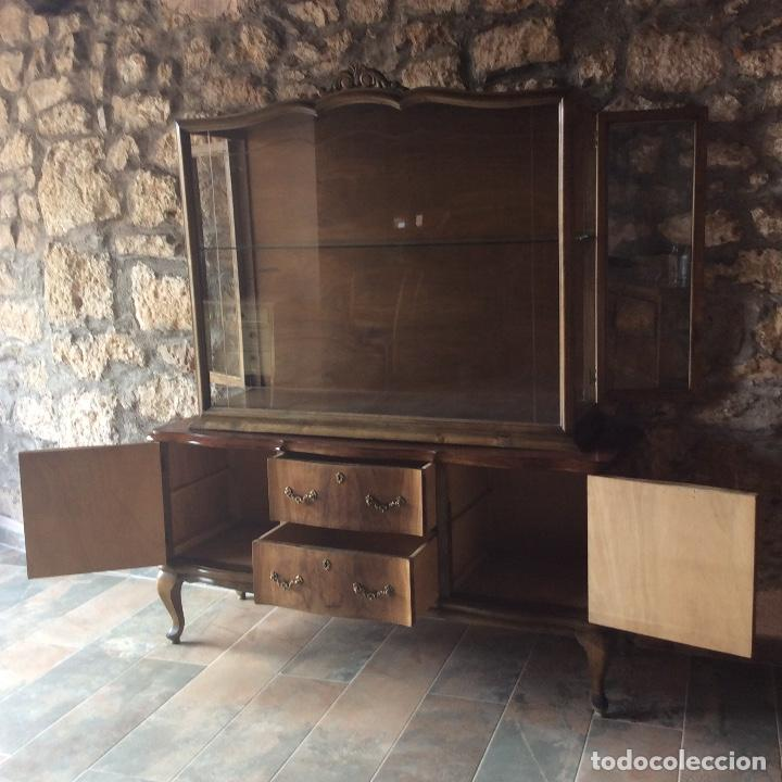 Antigüedades: Antique Deux Corps Display Cabinet and Sideboard - Foto 10 - 236819105