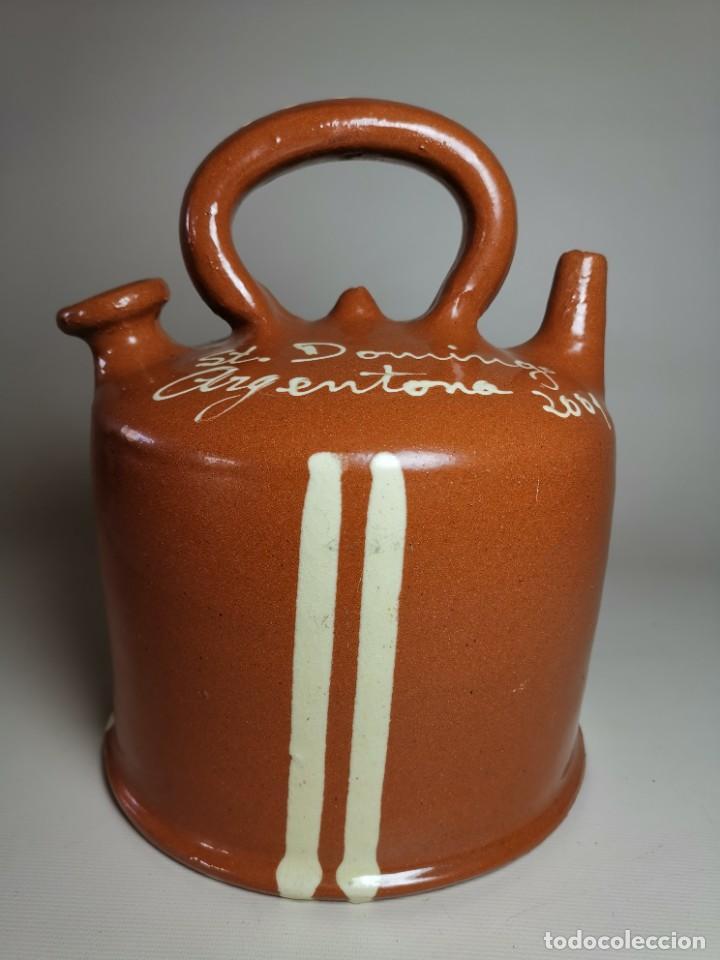 Antigüedades: ANTIGUO BOTIJO DE COLECCION-CANTIR- BARCA LA BISBAL--FIRA ARGENTONA 2001 - Foto 3 - 236819450