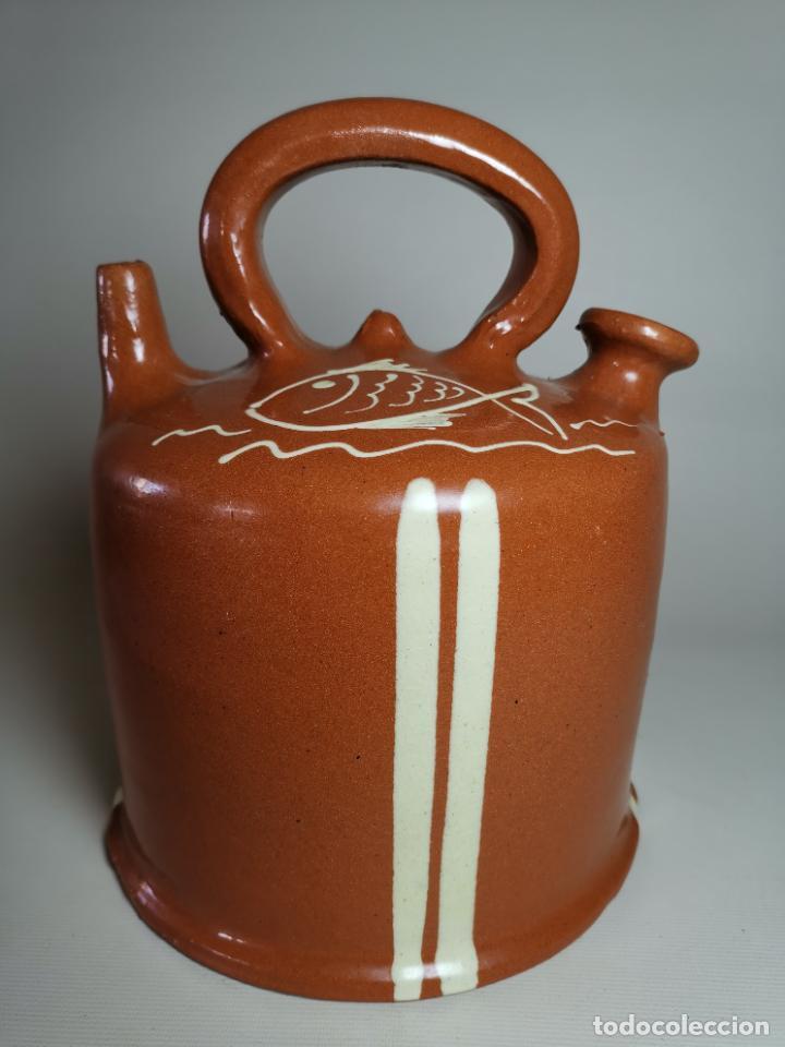 ANTIGUO BOTIJO DE COLECCION-CANTIR- BARCA LA BISBAL--FIRA ARGENTONA 2001 (Antigüedades - Porcelanas y Cerámicas - La Bisbal)