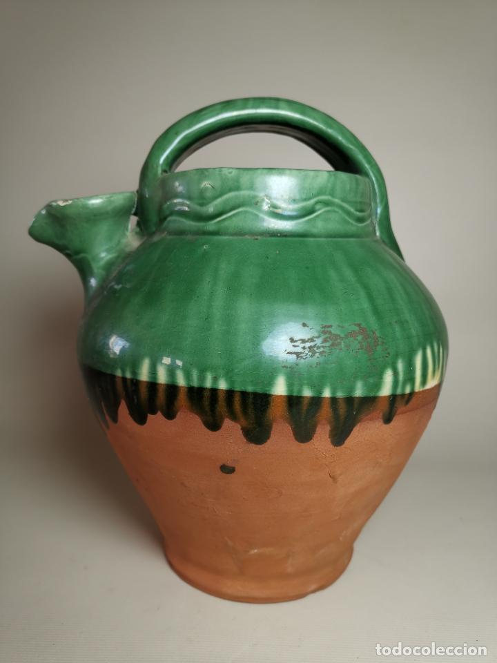 ANTIGUO BOTIJO DE COLECCION-CANTIR- LA BISBAL--DE POU (Antigüedades - Porcelanas y Cerámicas - La Bisbal)
