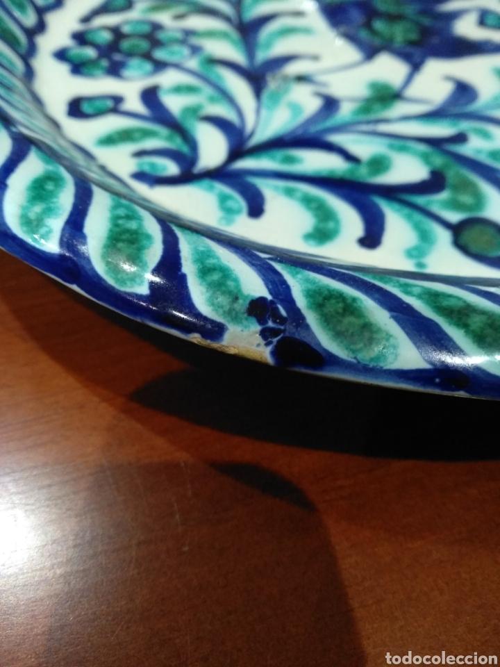 Antigüedades: Bellísimo plato Fajalauza. - Foto 9 - 236846000