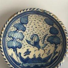 Antigüedades: LEBRILLO O CUENCO DE TRIANA SEVILLA. SIGLO XVIII DE GRAN TAMAÑO. VER FOTOS ANEXAS.. Lote 236863490