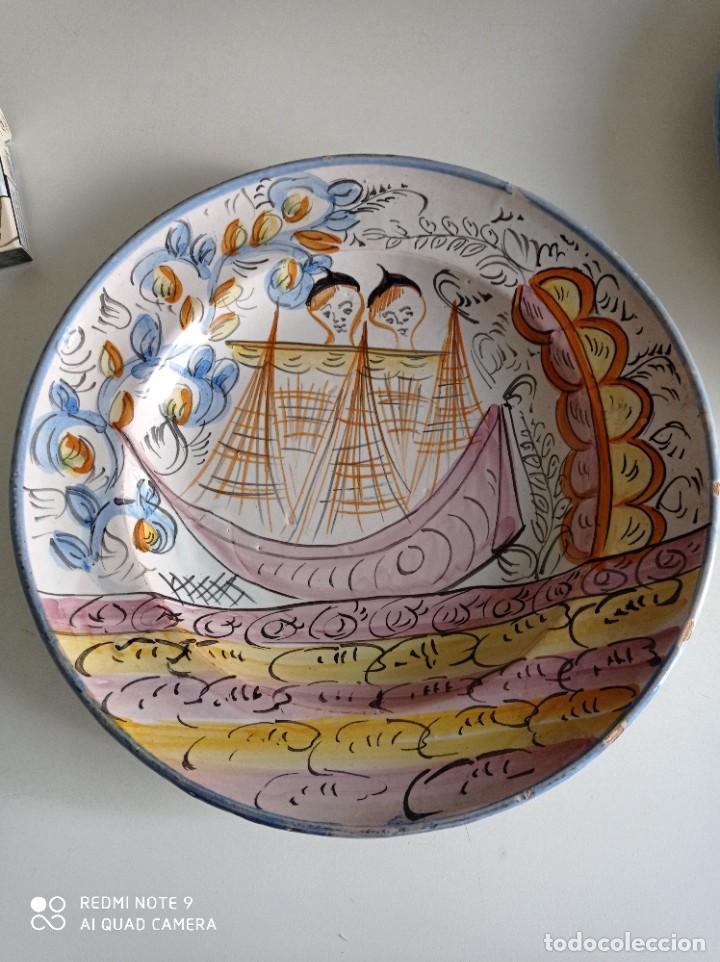 RIBESALBES, ESPECTACULAR PLATO SIGLO XIX, DE 35 CM DIÁMETRO (Antigüedades - Porcelanas y Cerámicas - Ribesalbes)